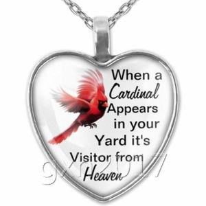 Necklace- NEW- When a Cardinal Appears Heaven